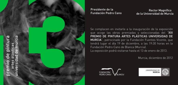 Inauguración Exposición XIII Premio de Pintura Universidad de Murcia